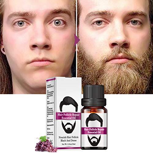 AIJIANG Beard Oil, 10ml Hombres Beard Oil Suavizar el Cabello Grueso Crecimiento de la Barba Líquido para el Crecimiento de la Barba Cuidado del Cabello