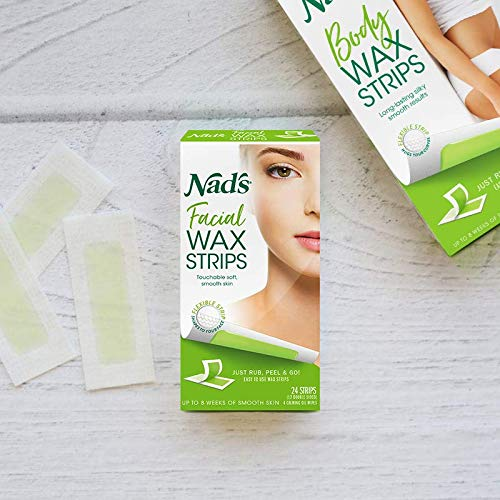Nad's Facial Wax Strips, Fragrance...