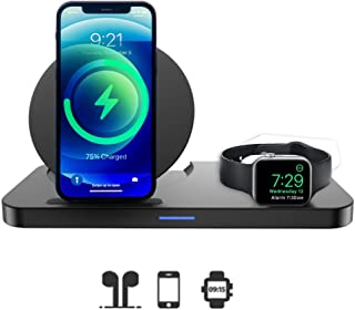 3 in 1 Wireless Charger, Wireless Charging Pad Station Compatible for Apple iWatch Series SE 6 5 4 3 2 1, AirPods Pro 2, W...