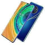 GQQG Teléfono Móvil Smartphone para Personas Mayores 215GB ROM Pantalla 6.7' (19:9) Water-Drop Screen Movil, 13MP+24MP, 4800mAh Batería, Android 10.0 Dual SIM (Color : Blue)