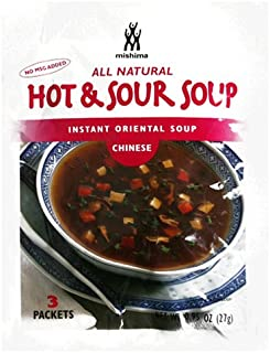 Mishima Instant Soup Mix, Hot & Sour, .95-Ounce Packets (Pack of 12)