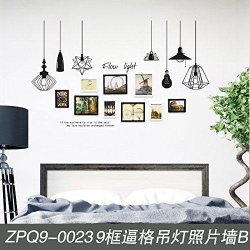 Fotolijst*De wanden van de woonkamer zijn de slaapkamer kroonluchter foto wand fotowand combinatie creatieve fotolijst aan de muur 9 Euro box ingericht