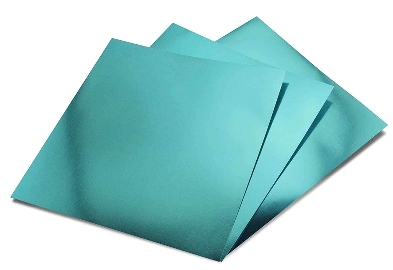 Hygloss Products Metallic Foil Board Sheets - 12 x 12 Inches – Light Blue, 10 Pack