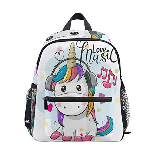 Cute Baby Rainbow Unicorn Preschool Bag Kids Backpack for Toddler Boy Girls