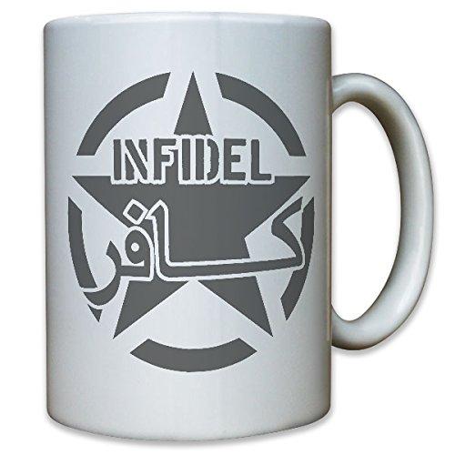 INFIDEL Ungläubiger Soldaat Army Navy Anti Terror Antiterror Noorwegen Vechtinzet Bundeswehr Bw EK - kopje beker koffie #9151