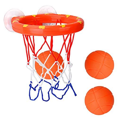 CYFIE Mini Basketballkorb, Mini Basketball Set mit 3 Basketbälle Basketball Brett mit Saugnapf Spielzeug Freizeit Sport mit Ball für Büro, Schlafzimmer, Badezimmer