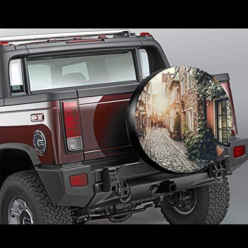 shenguang Cubierta de neumático de Repuesto Personalizada Cubierta de neumático de Paris Quarter Tour (se Adapta a: JEE/p, Remolque, RV, SUV, camión y Muchos vehículos) Tamaño