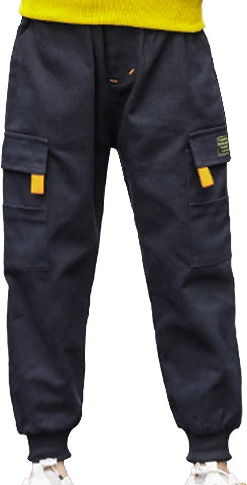Kinder Camouflage Hosen Cargo Hose für Jungen Slim Fit Jogginghose mit elastischem Bund Hip Hop Jazz Freizeithose