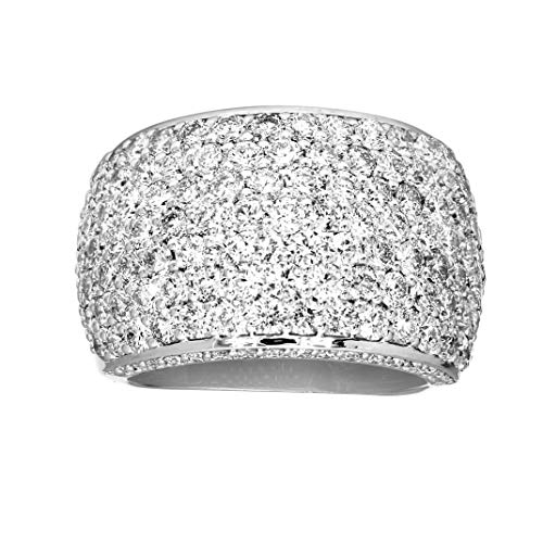 Friendly Diamonds IGI Certified 3 1/3 Carat Diamond Ring 925 Sterling Silver Lab Grown Pave Diamond Ring HI-SI1-SI2 Quality Engagement Diamond Ring For Women (Ring Size-6)