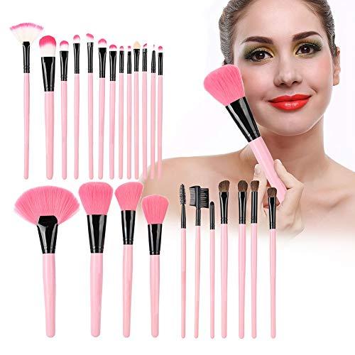 Rotekt 24Pcs / set Kit de brosse de maquillage portable Fondation outil fard à paupières fard à paupières cosmétique avec sac en PU