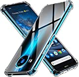 ivoler Funda para Nokia 8.3 5G, Carcasa Protectora Antigolpes Transparente con Cojín Esquina Parachoques, Flexible Suave TPU Silicona Caso Delgada Anti-Choques Case Cover
