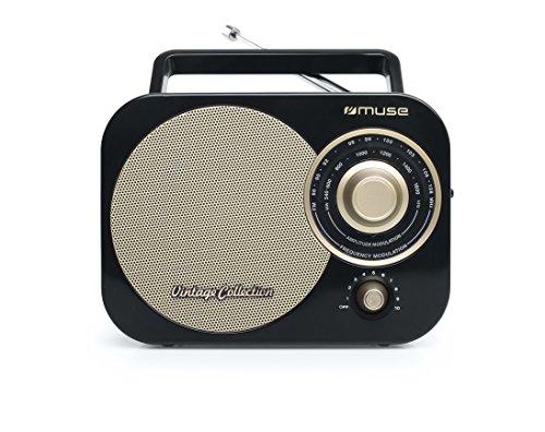 Oferta de Muse M-055 RB - Radio (Portátil, Analógica, FM,MW, 88-108 MHz, Negro, Oro, Monótono)