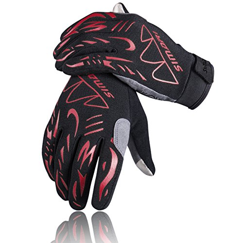 SIMARI Cycling Gloves Men Women Mountain Bike Gloves Road Biking Gloves Full Finger Riding Gloves With Padde