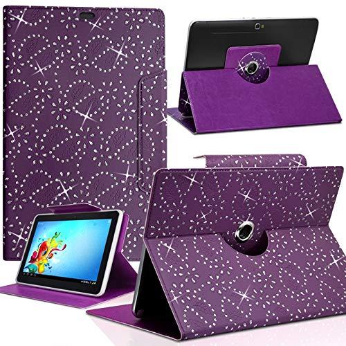Karylax - Funda universal para tablet Yuntab de 7 pulgadas, diseño de diamante, color morado