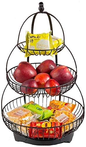 MCE Frutas Tazones Fruta Cesta De Frutas Cesta De Fruta Cromada Hamaca...