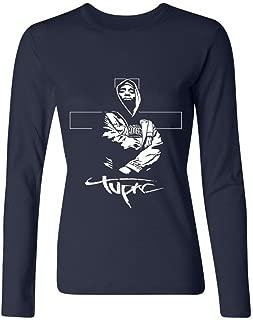MINIXmas Women's Hip Hop Tupac E Biggie Long Sleeve T-shirt