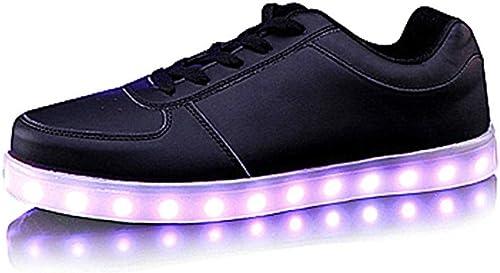 Carga por USB Zapaños de iluminación Deportes LED Colorido Zapaños Amantes Zapaños Casual Deportes