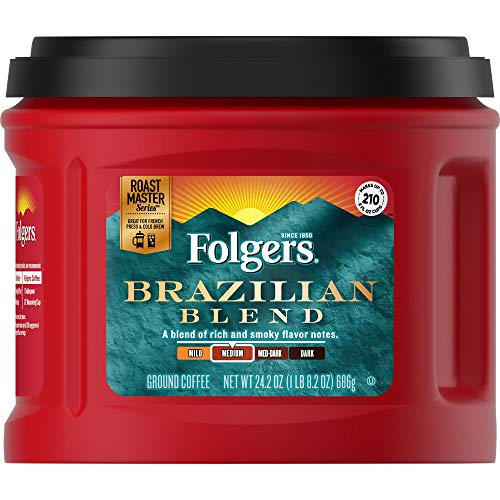 Folgers Brazilian Blend Coffee, Medium Roast Ground Coffee, 24.2 Ounces