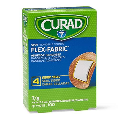 "Curad Flex Fabric Spot Adhesive Bandages, Bandage Diameter is 7/8"" (Pack of 1,200)"