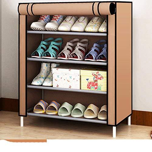 Gabinete de zapatos a prueba de polvo tela no tejida extraíble zapatos organizador armario ahorro de espacio estante de almacenamiento hogar dormitorio DIY zapatero cremallera