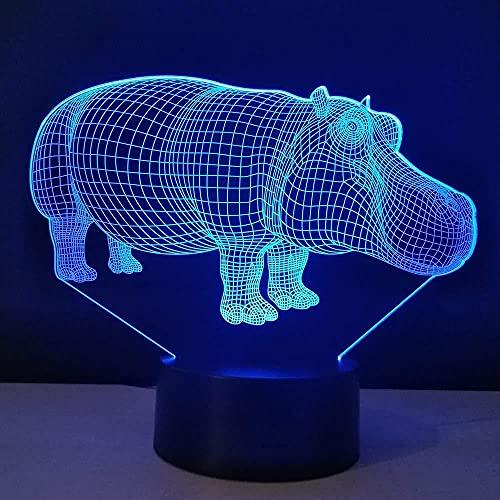 Lámpara de mesa de noche con ilusión 3D, luz nocturna, 7 colores, cambio automático, interruptor táctil, decoración de escritorio, regalo de cumpleaños-16 color remote control