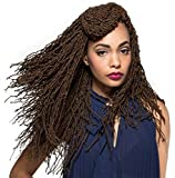Bobbi Boss Synthetic Hair Crochet Braids African Roots Braid Collection Micro Locs 18' (1 - Pack, 1B)