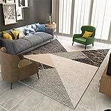 alfombras Que se Pueden Fregar La Alfombra marrón en el Dormitorio no se desvanece, Desgaste y Mancha. Decoracion recibidor Alfombra Lavable Infantil 160x200cm 5ft 3