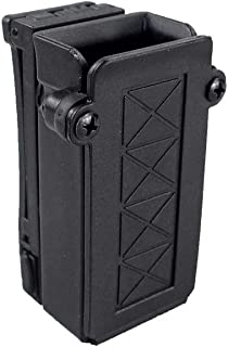 LIVIQILY Tactical Universal Single Magazine Holster for Glock 9mm .40 Mag Holder Dual Stack Mag Pouch with Belt Loop
