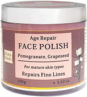 Auravedic Age Repair Face Polish With Pomegranate & Grapeseed, 100g