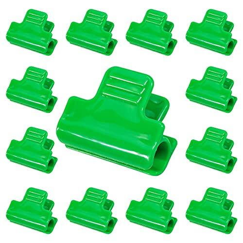 Haakong 30 Pcs Greenhouse Clamps Clips Row Cover Netting Tunnel Hoop Clips Shed Film Shading Net Rod Clip for 11mm/0.4in Plant Stakes