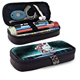 Multi-Functional Leather Pencil Case Sylveon Popular Anime Waterproof Zipper Pencil Pouch Makeup Bag Durable Storage Pouch for School Students Pencil Case