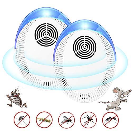 BLAZOR Ultraschall Schädlingsbekämpfer, Plug-In Pest Repellent, Effektiv Katzen Vertreiben, Marder, Mäuse, Ratten, Hunde, Spinnen Vertreiben, Ultraschall Mäuseabwehr Harmlos für Haustiere und Menschen