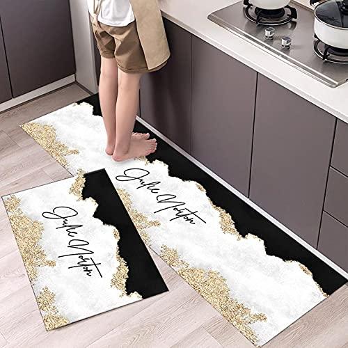 WESG stile nordico creativo cucina tappeto bagno assorbente antiscivolo tappetino interno ed esterno...