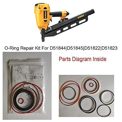Hakatop O-Ring Kit for DeWALT Framing Nailer Universal D51844 D51845 D51822 D51823