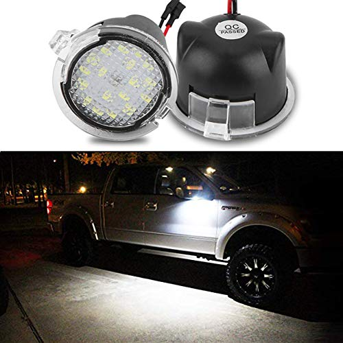Full Led Side Under Mirror Puddle Light for Ford F-150 Expedition Explorer Edge...