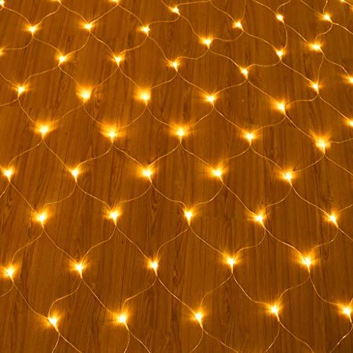 FAPROL Lichterketten Weihnachtsbeleuchtung Baum Warmweiß Garten Außen wasserdichte Lichternetz Wand Dach Dekor Zum Geburtstag 6x4m