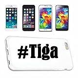Reifen-Markt Handyhülle kompatibel für iPhone 7 Hashtag #Tiga im Social Network Design Hardcase Schutzhülle Handy Cover Smart Cover