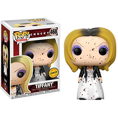Funko Tiffany (Chase Edition): Bride of Chucky x POP! Movies Vinyl Figure & 1 PET Plastic Graphical Protector Bundle [#468 / 20117 - B]