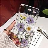 lingtai custodia morbida trasparente con foglie di fiori secchi per iphone xs max xr x 6 6s 7 8 plus 11 pro max se-per iphone xr_2