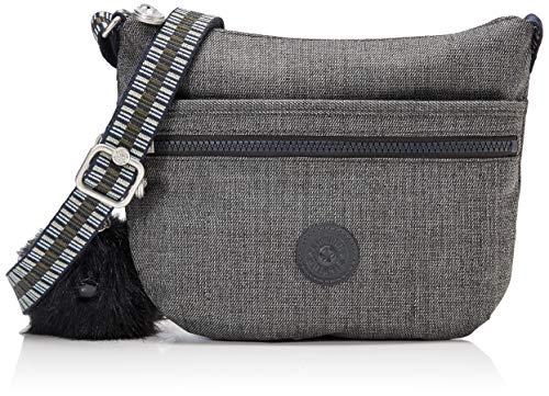 Kipling Damen Arto S Umhängetasche, Schwarz (Jeans Grey G Strap), 25x21x3 centimeters