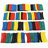 EZONEDEAL 164PCS Heat Shrink Tubings 2:1,Wire Cable Wrap Assortment Tube Sets Electric Insulation