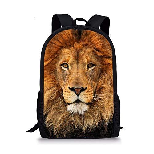 Showudesigns Lion School Backpack for Middle School Boys Rucksack Kids Bookbag Lightweight Back Pack Daily Daypack