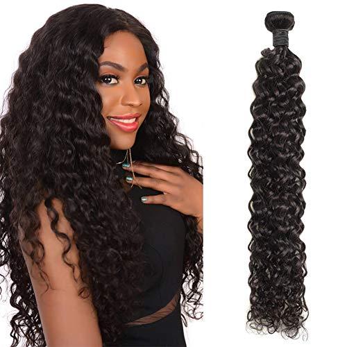 BrazilianWater WaveBundle 9A Wet and Wavy Human Hair 1 BundleWeave 100% Virgin Remy Curly Hair Bundle (30 Inch)