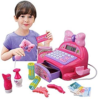 BFOEL Pretend Play Cash Register-Educational Calculator,Realistic Actions Sounds Kid�s Birthday Gift