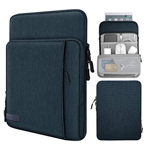 MoKo 9-11 Inch Hülle, Polyester Schutzhülle Multifunktion Tablet Tasche Organizer Kompatibel mit iPad 8 10.2, iPad Air 4 10.9, iPad Pro 11, iPad Air 3 10.5, iPad 10.2 2019, iPad Pro 10.5, Indigo