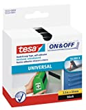 Tesa On & Off Bande auto-agrippante Universal noir 2,5m x 20mm