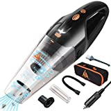 Car Vacuum, JOJOY LUX Portable Car Vacuum Cleaner High Power 5000PA Handheld Vacuum for Wet Dry Use with Stainless Steel HEPA Filter for Quick Car Cleaners