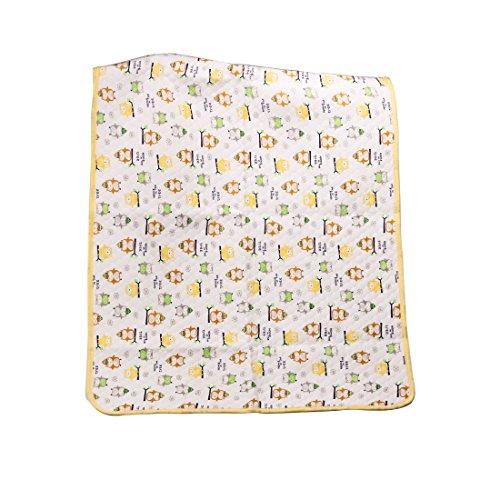 Irypulse Protector Cubrecolchón Impermeable para Bebé Niños, Gran Tamaño 105*70CM Alfombrilla Colchón Cambiador para Cama Lavable y Reutilizable, para el Hogar Amarillo