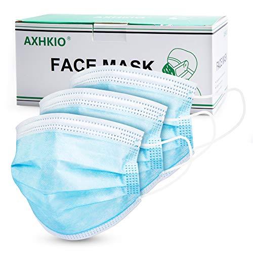 Disposable Face Masks, AXHKIO 50 PCS Disposable Masks 3 Layers Safety Masks, Face Masks Blue