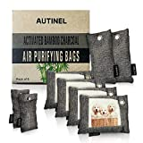 Autinel 8 Pack - Bamboo Charcoal Air Purifying Bags (4 X 200g, 2 X 100g, 2 X 50g) Natural Air Fresheners & Odor Eliminators for Home, Pets, Car, Closet, Shoes